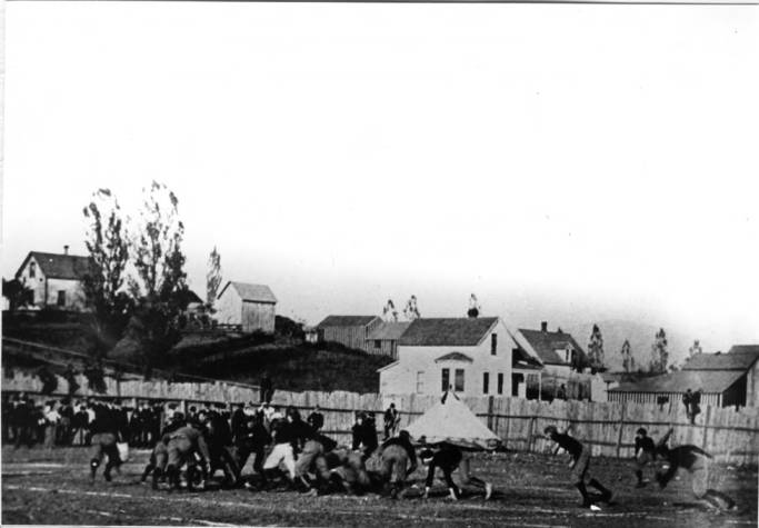 item thumbnail for Idaho versus W.S.C. [Washington State College] football game in 1905
