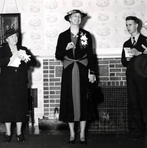 item thumbnail for Eleanor Roosevelt visits University of Idaho, March 26, 1938