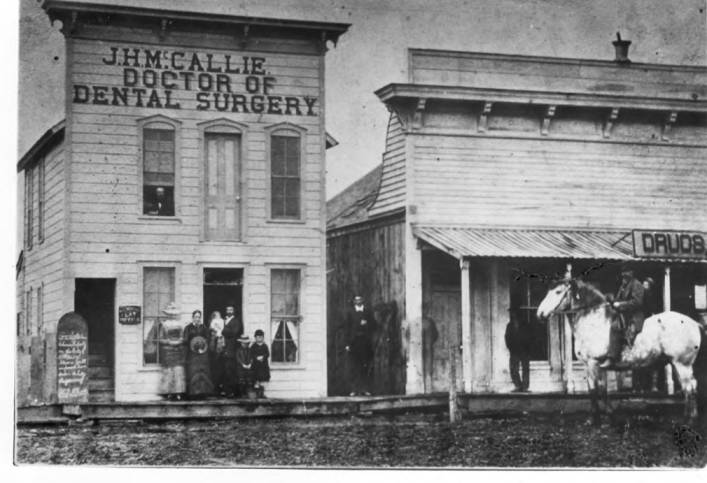 item thumbnail for McCallie's Dental Office and White Drug Store at Main and First Street