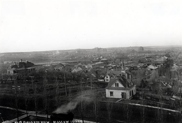 item thumbnail for Aerial looking southwest from Courthouse in Moscow