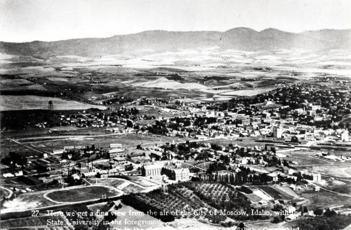 item thumbnail for Aerial, looking northeast with campus in foreground