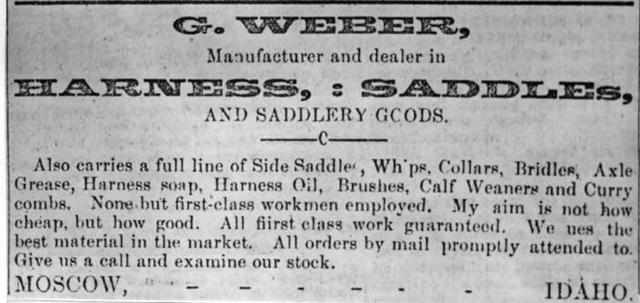 item thumbnail for G. [Gottfried] Weber, manufacturer and dealer in harness, saddles, and saddlery goods