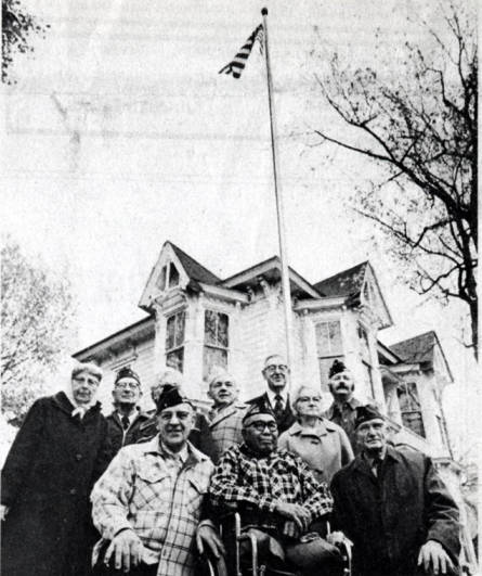 item thumbnail for Dedication ceremony of flagpole in front of the McConnell Mansion