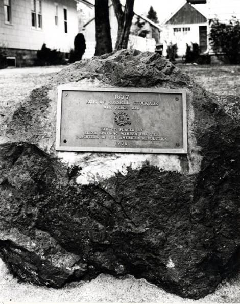 item thumbnail for Russell stockade commemorative marker