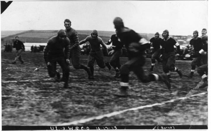 item thumbnail for Running play, Idaho - Washington State College Game, October 17, 1913