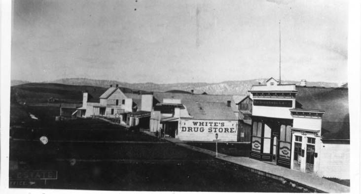 item thumbnail for Looking north at Main and First streets, 1885