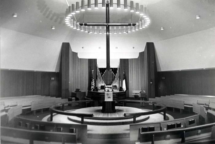 item thumbnail for Emmanuel Lutheran Church, looking at altar