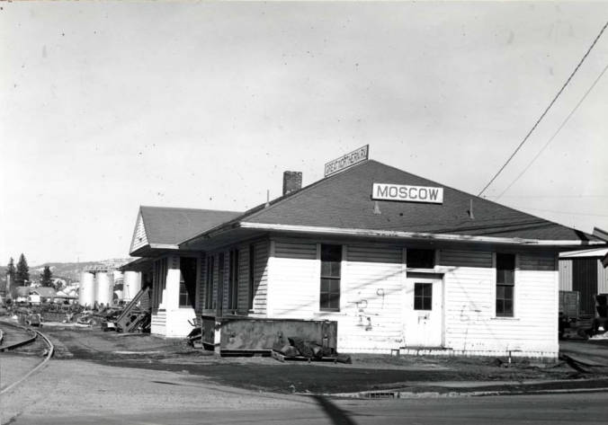 item thumbnail for S.& I.E Railroad depot, now Burlington Northern Railroad in 1974