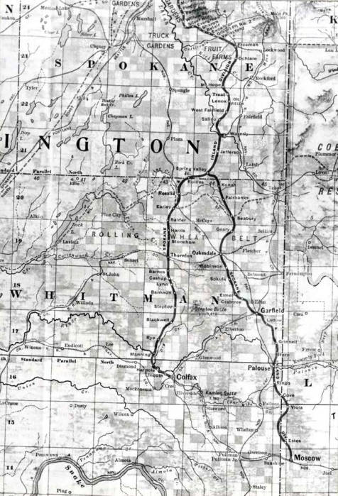 item thumbnail for Photo of map section of Spokane & Inland Electric Railroad