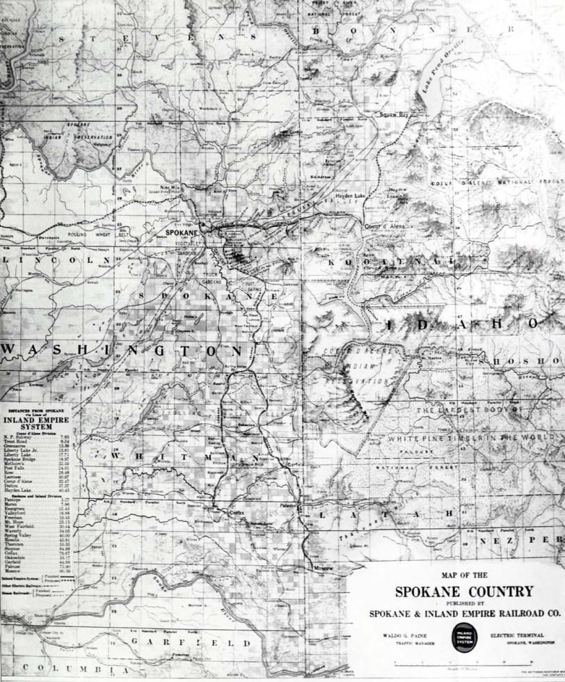 item thumbnail for Photo of map of Spokane County