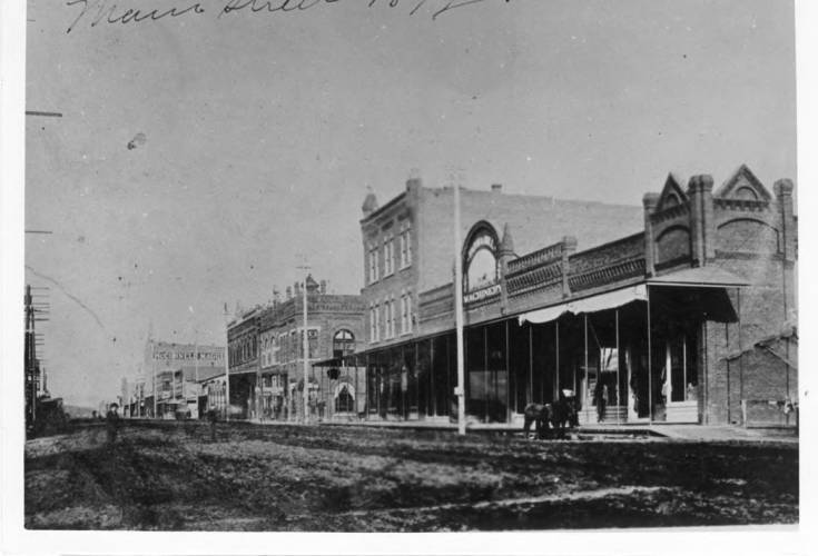 item thumbnail for Looking north on Main Street from Fifth Street 1892