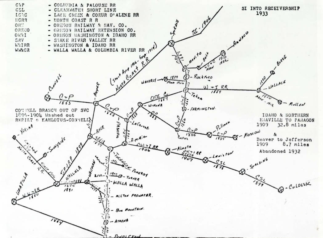 item thumbnail for Photo of map depicting railroads of the Inland Empire
