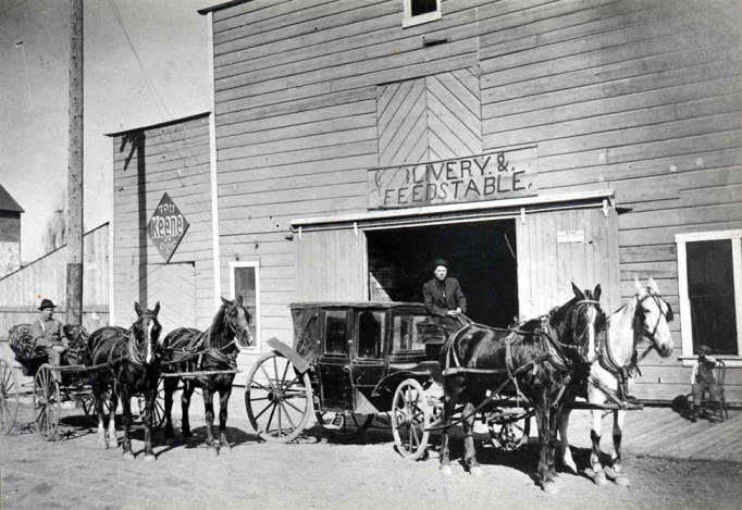 item thumbnail for Livery and feed stable on N Main St