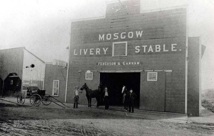 item thumbnail for Livery stable at  SE 4th & Jackson St [03]