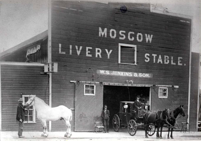 item thumbnail for Livery stable at  SE Jackson & 4th St [04]