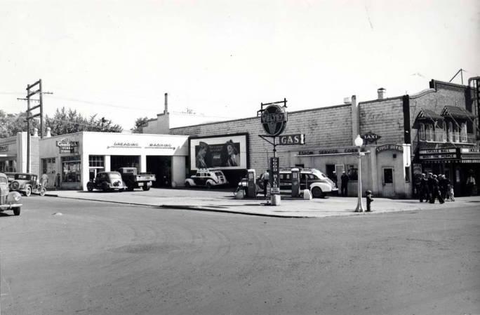 item thumbnail for Veltex service station at SE 5th and Main Street, circa 1945