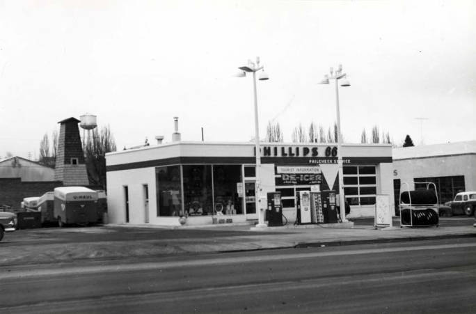 item thumbnail for Phillips 66 service station at W Main Street and A