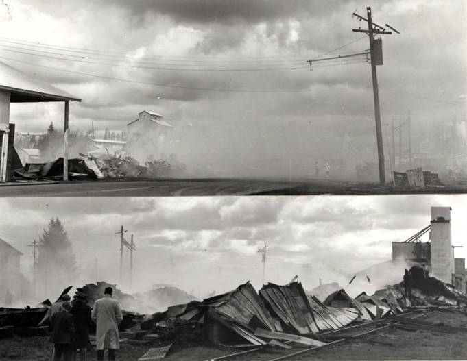 item thumbnail for Washburn-Wilson Seed Company warehouse demolished by fire, 1962