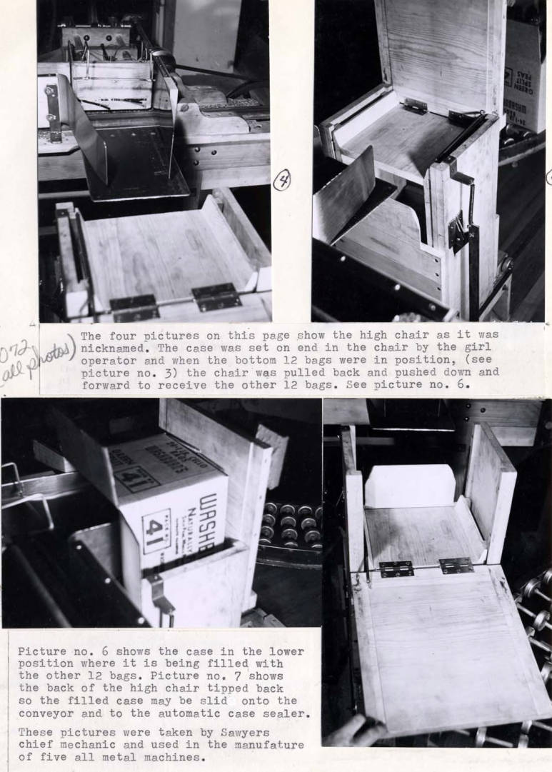 item thumbnail for Cellophane packaging machine at Washburn-Wilson Seed Company