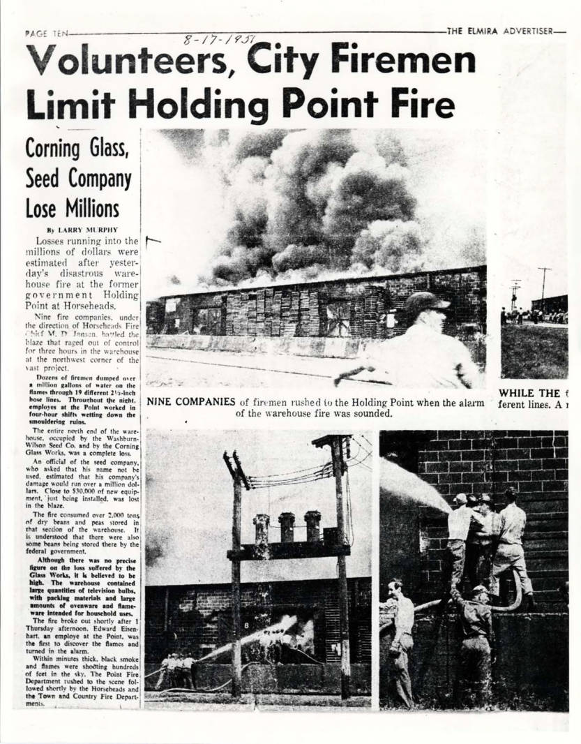 item thumbnail for Fire at Washburn-Wilson Seed Company in Horseheads, New York