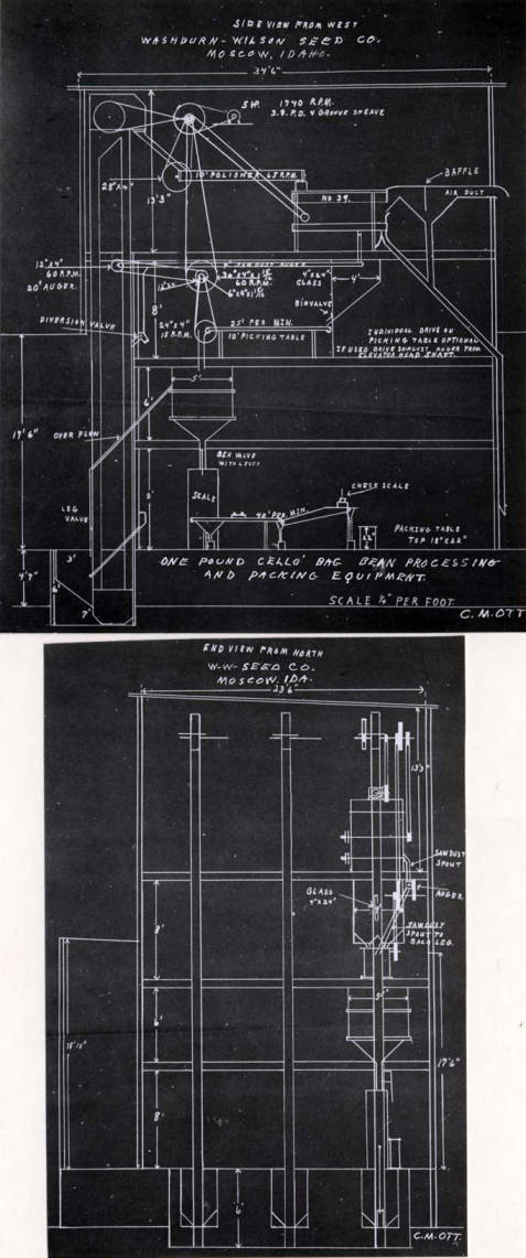item thumbnail for Washburn-Wilson Seed Company blueprint of packaging machine