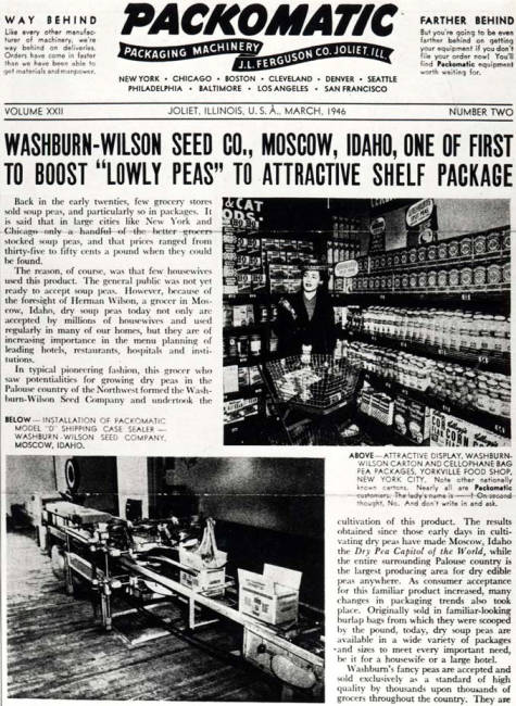 item thumbnail for Washburn-Wilson Seed Company promotional about new packaging