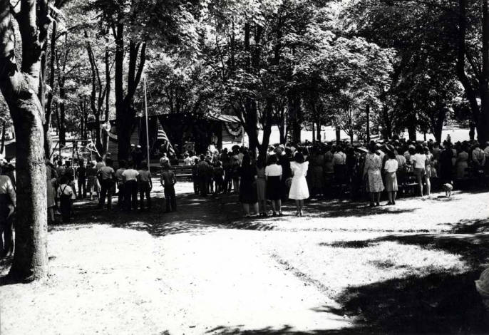 item thumbnail for East City Park in Moscow, circa 1944