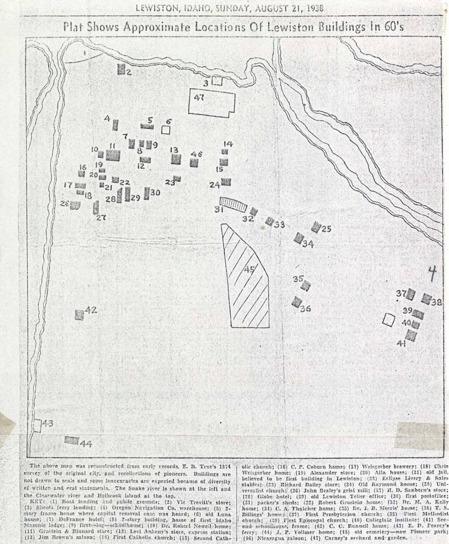 item thumbnail for Map of Lewiston from the 1860s