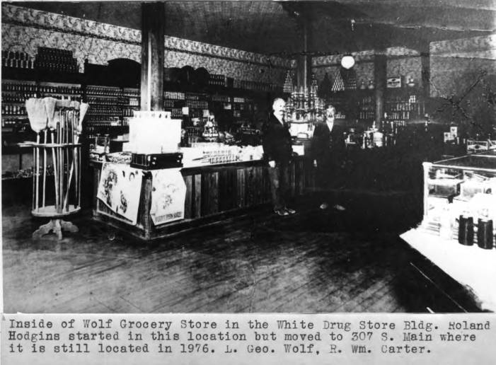item thumbnail for Inside of Wolf Grocery Store in the White Drug Store Building