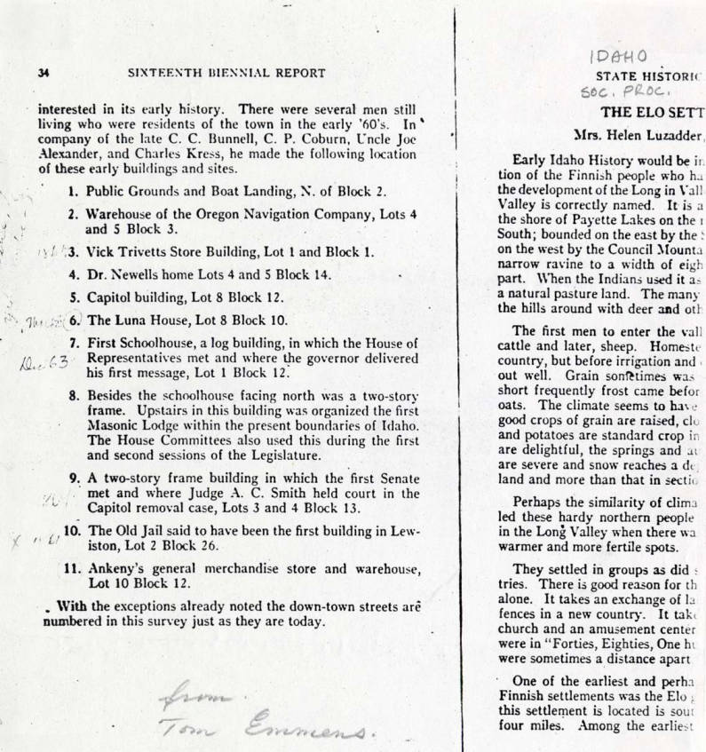 item thumbnail for List of early Lewiston buildings