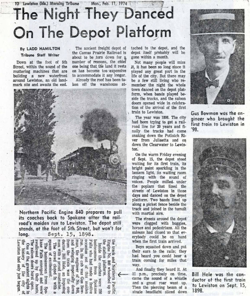 item thumbnail for Arrival of railroad in Lewiston
