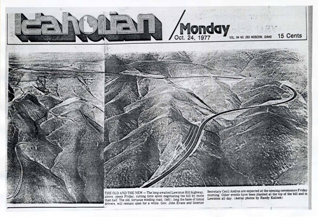 item thumbnail for Newspaper photo of old Lewiston hill highway