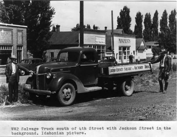 item thumbnail for World War II salvage truck south of Fourth Street