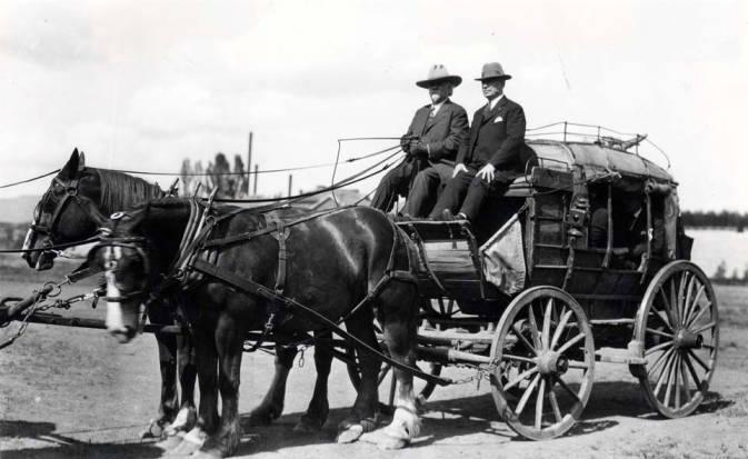 item thumbnail for Felix Warren and H.C. Baldridge in Stagecoach