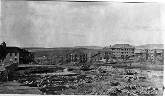 item thumbnail for Site of University of Idaho Administration Building after ruins were removed