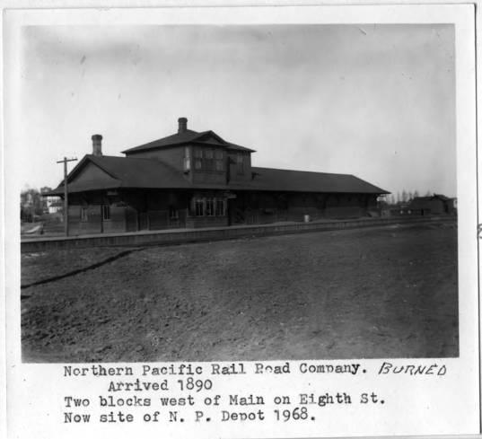 item thumbnail for Northern Pacific Railroad Company depot, circa 1895