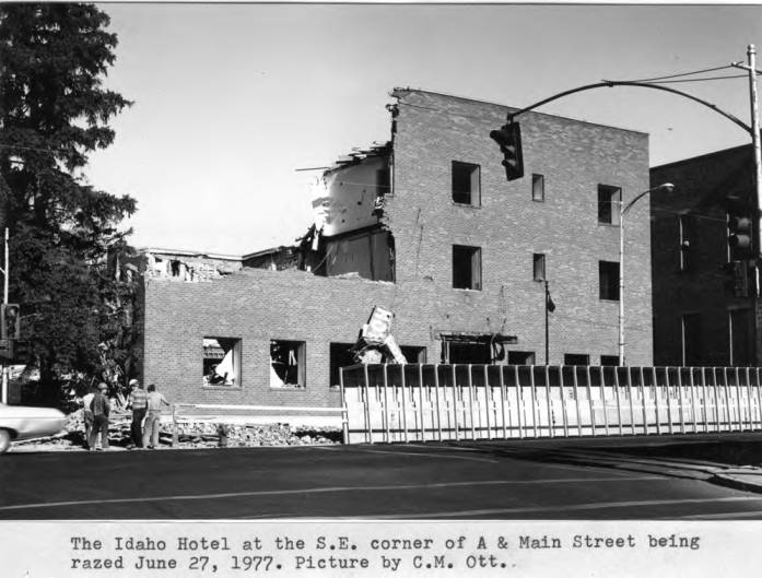 item thumbnail for Idaho Hotel at the southeast corner of A and Main streets