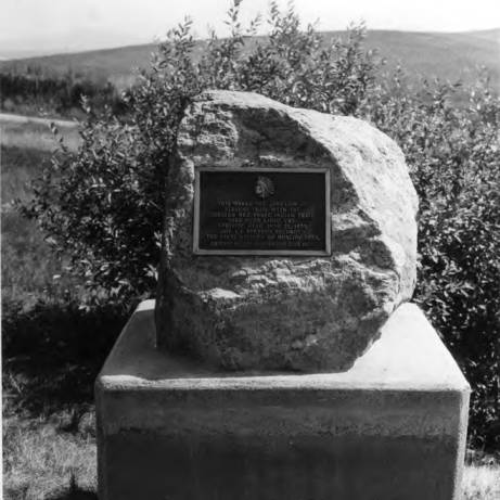 item thumbnail for Monument marking junction of Steven's Trail and Greater Nez Perce Trail