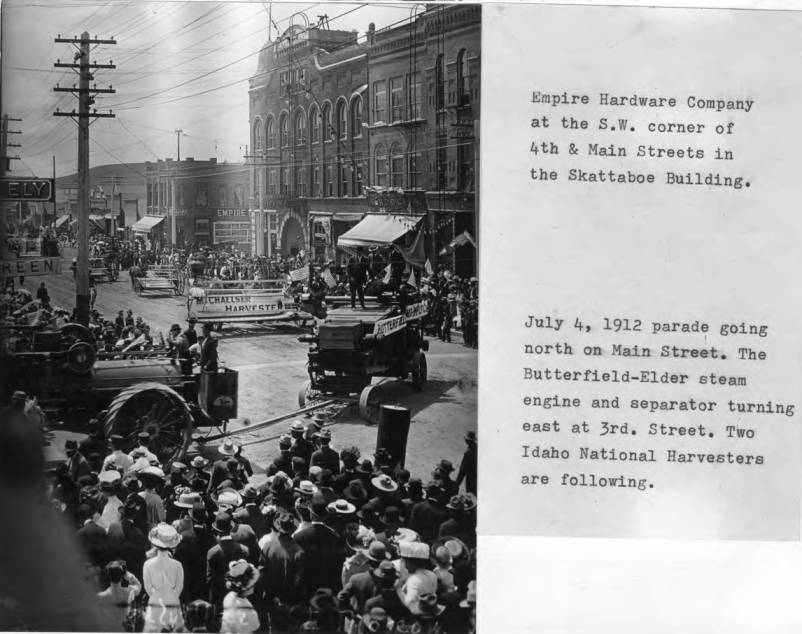 item thumbnail for July 4, 1912 parade going north on Main Street