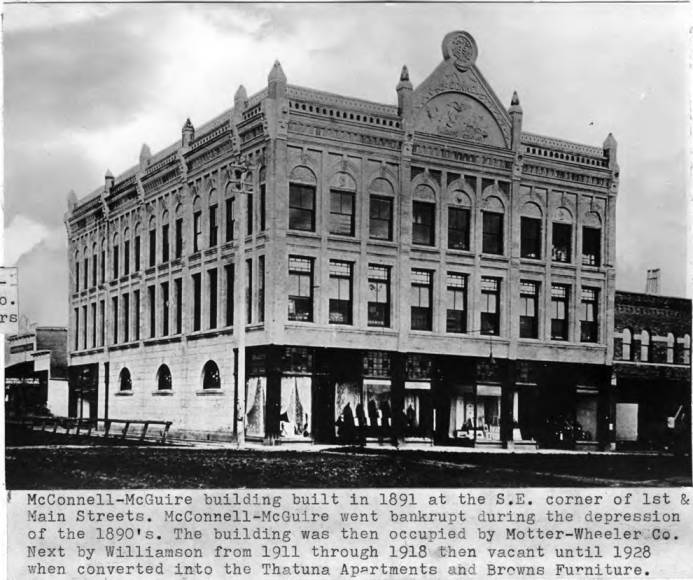 item thumbnail for McConnell-Maguire building built in 1891 at the southeast corner of First and Main streets