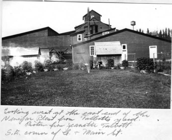 item thumbnail for Looking west at the east end of the vinegar plant from Talbotts' yard