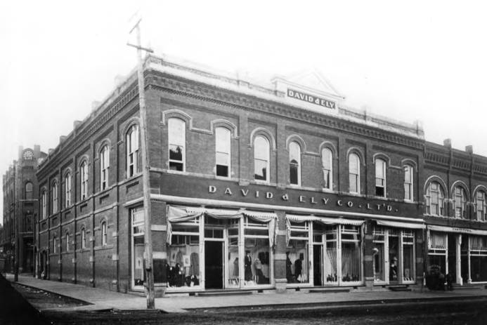 item thumbnail for David & Ely purchased the Dernham & Kaufmann building in 1899 and changed the name to David & Ely.