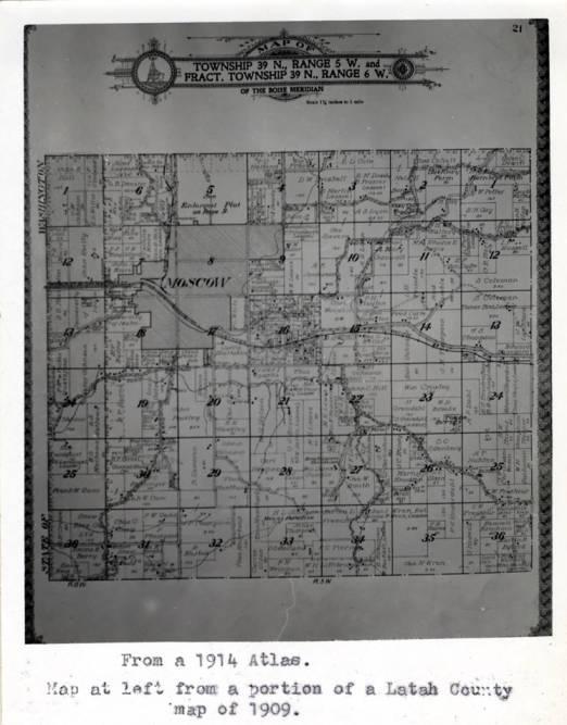 item thumbnail for Map of Township 39 N., Range 5 W. and Fract. Township 39 N. Range 6 W. of the Boise Meridian