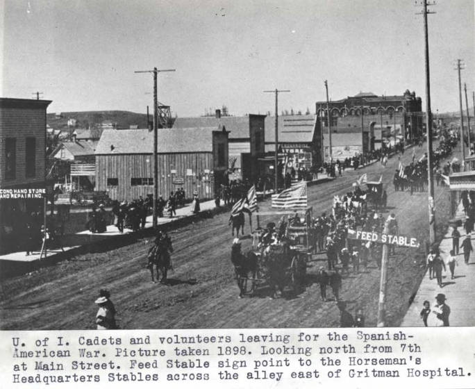 item thumbnail for University of Idaho cadets and volunteers leaving for the Spanish-American War