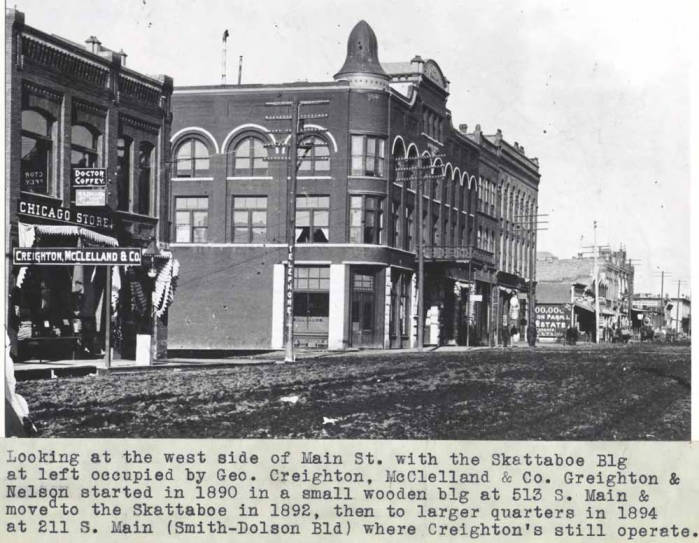 item thumbnail for Looking at the west side of Main Street