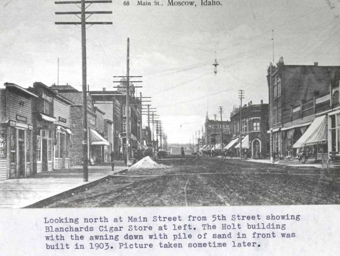 item thumbnail for Looking north at Main Street from Fifth Street