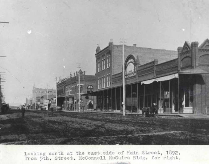 item thumbnail for Looking north at the east side of Main Street, 1892