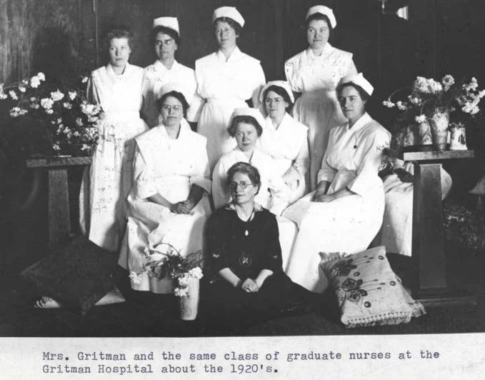 item thumbnail for Doctor Gritman and a class of graduate nurses