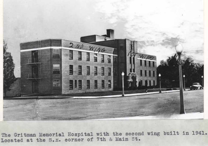 item thumbnail for Gritman Memorial Hospital after the second wing was built