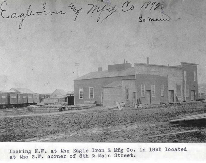 item thumbnail for Looking N.W. at the Eagle Iron & Mfg Co. in 1892 in Moscow